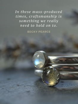 I refer you back to my blog about my pastels and palettes. Towards the end of that, I mentioned my love of Artisan craftsmen. Here, Becky Pearce is quoted beautifully in an article about just that.   http://blog.folksy.com/2016/07/04/becky-pearce-jewellery