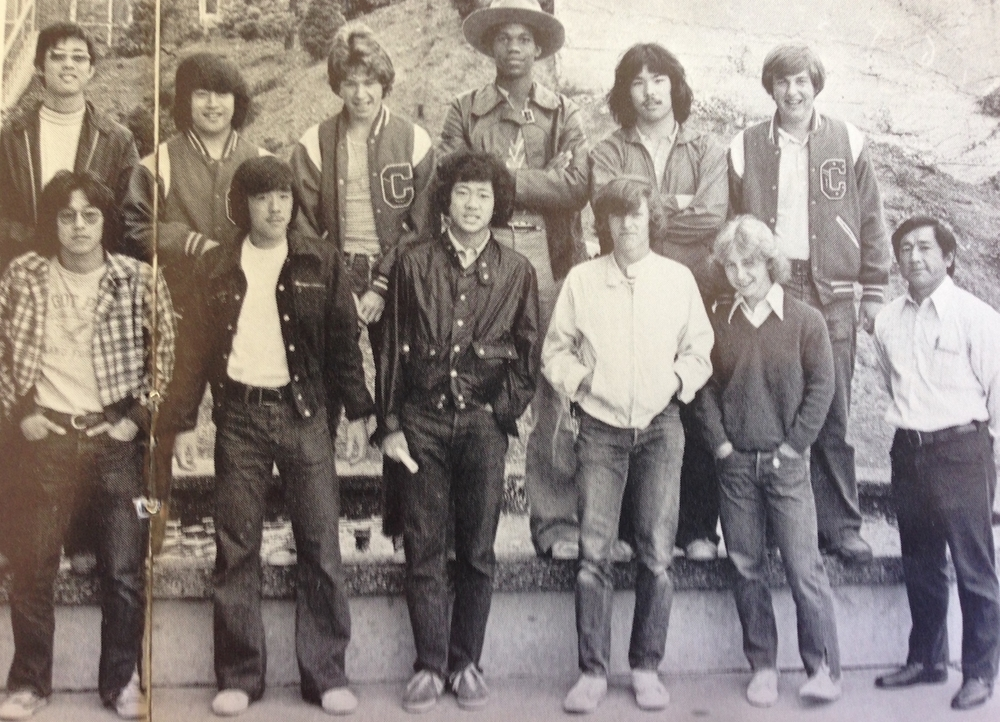 1974 Cleveland High School Golf Team – Jay (bottom, 3rd from R), James Wong (bottom, 4th from R).