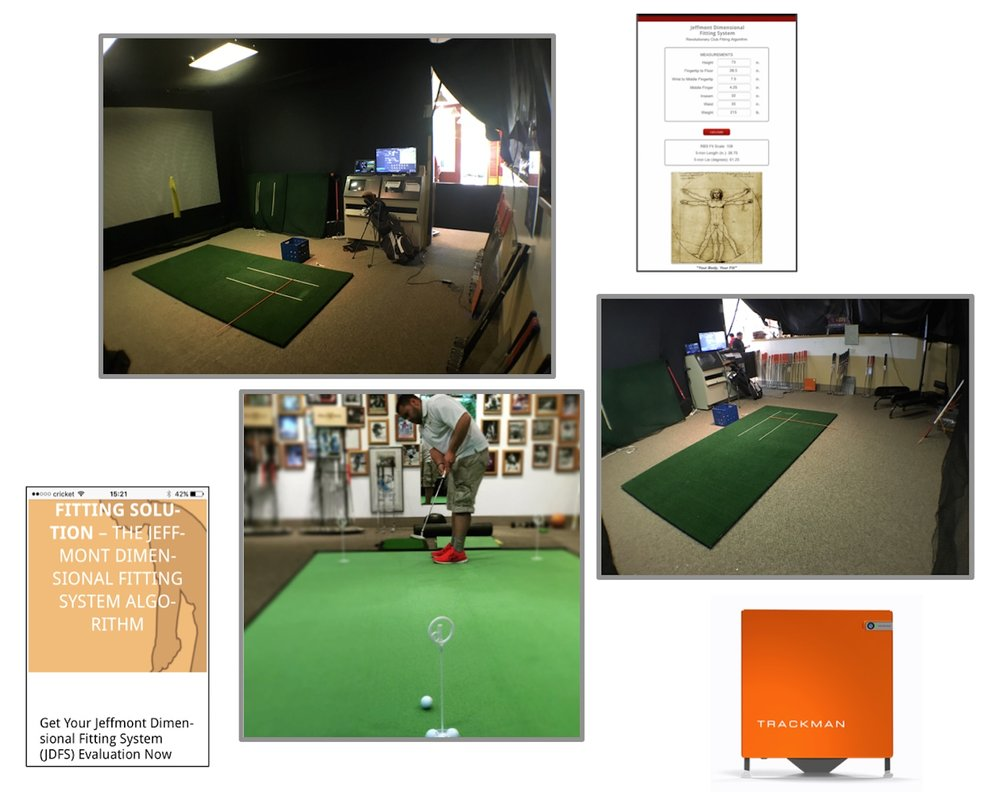 The Jeffmont Fitting Lab offers all of the tools and expertise needed to provide you with the optimal golf club fit. including the JDFS algorithm, TrackMan 4, and indoor testing facility for full shots and for putting.