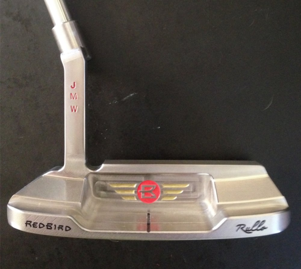 Rullo 016 milled putter with stamped initials personalization.