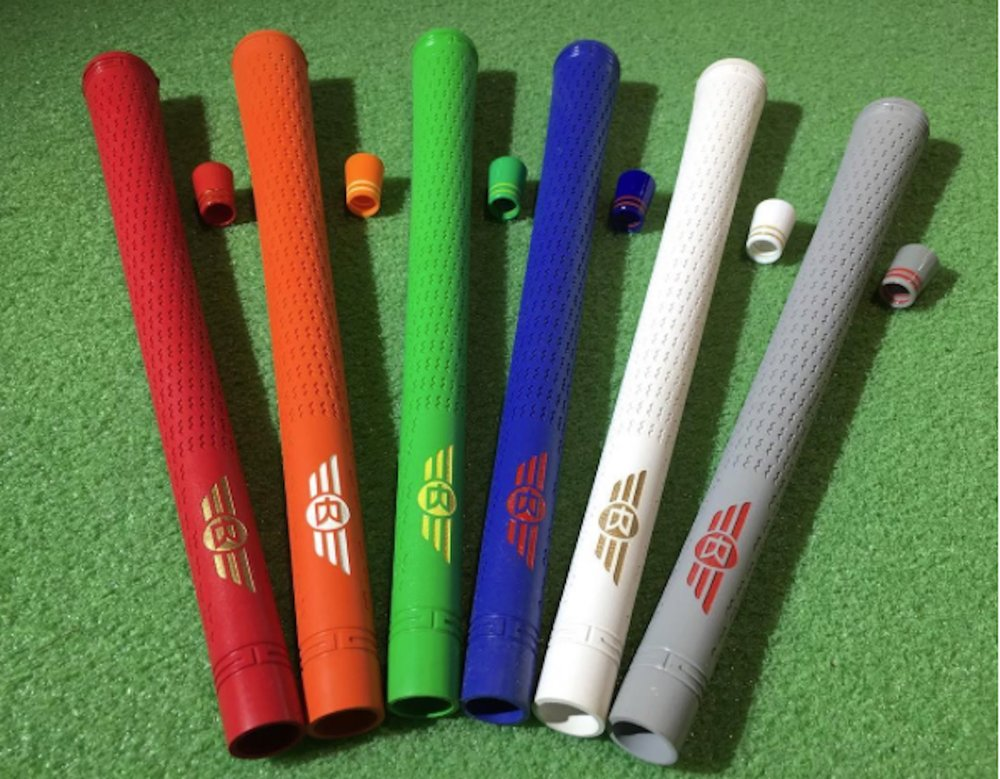 Curated, color-matched grips and ferrules for Jeffmont RedBird and Avian golf clubs.