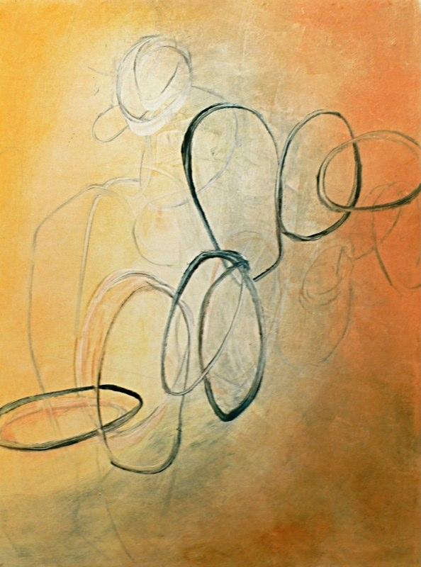 """Spirals 6 / 18"""" x 24""""  Monotype"""