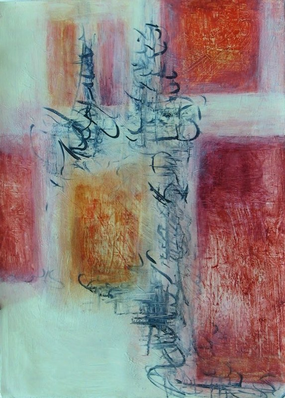 Into Light 9 / 30'' x 40''  Painting on paper