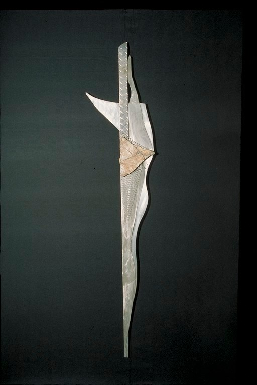 Totem V / 72'' x 16'' x 3''   Recycled metals, stone