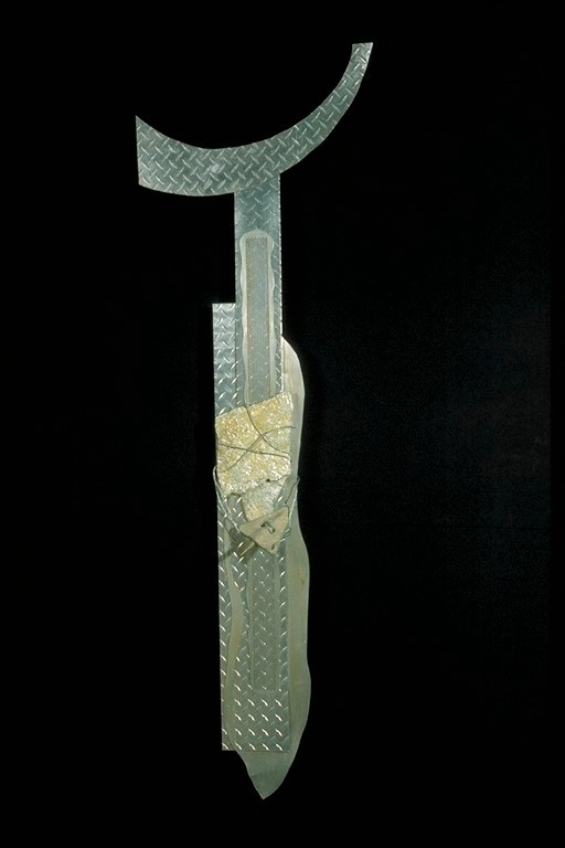 Totem VIII / 78'' x 24'' x 4''   Recycled metals, stone