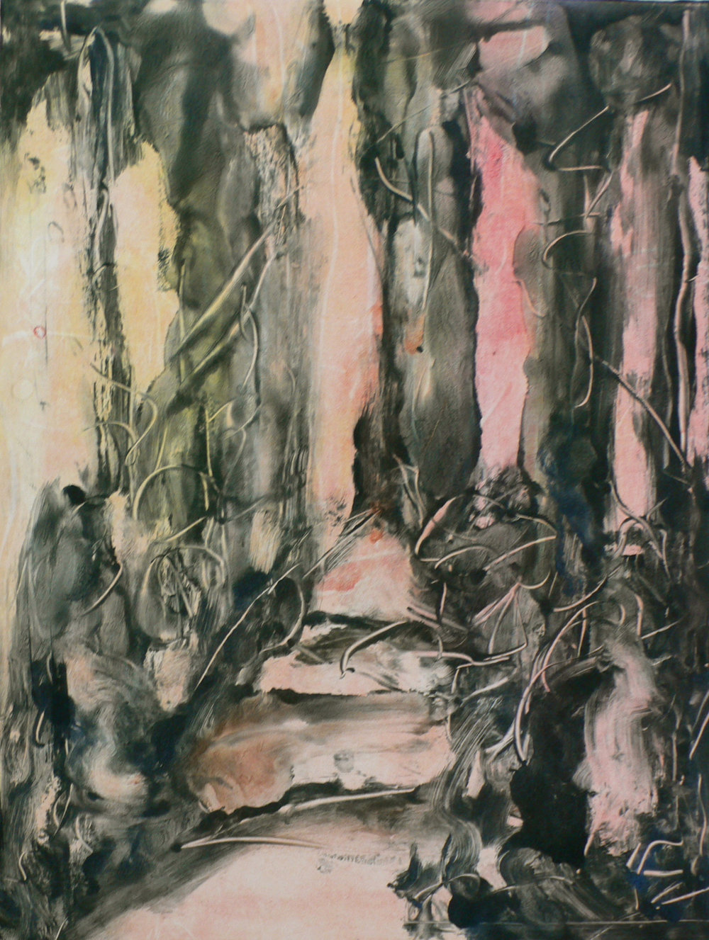 Lights 8 / 22'' x 15'' Monotype