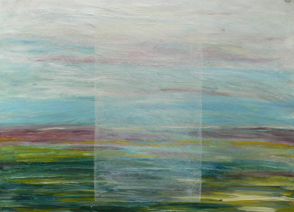 Coastal View Time Lapse 5 / 30'' x 22''  Painting on paper