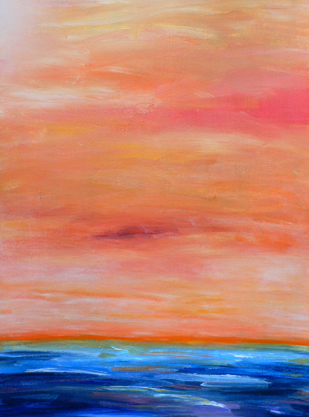 Sunset 2 / 30'' x 22''  Painting on paper
