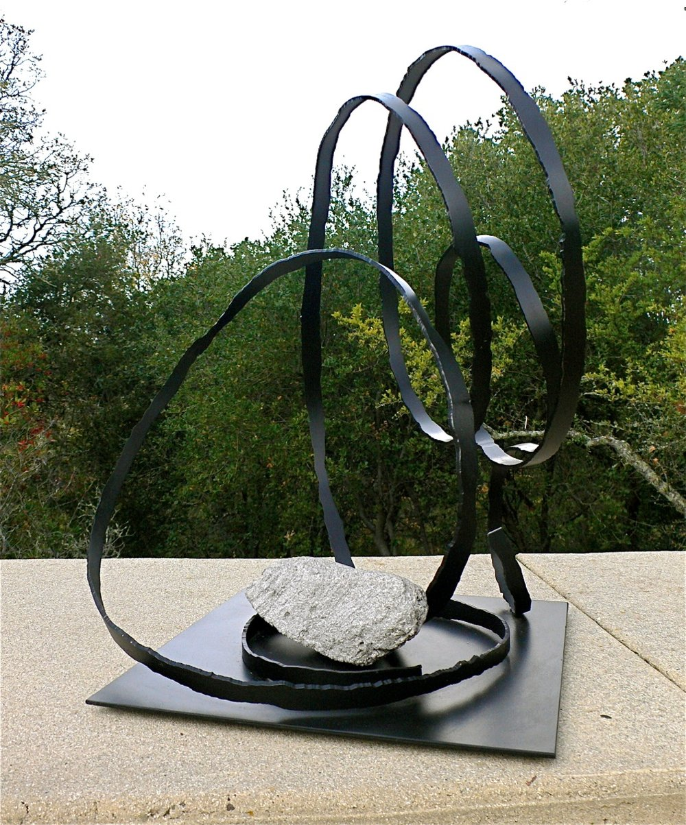Vortex VII  Recycled steel & stone