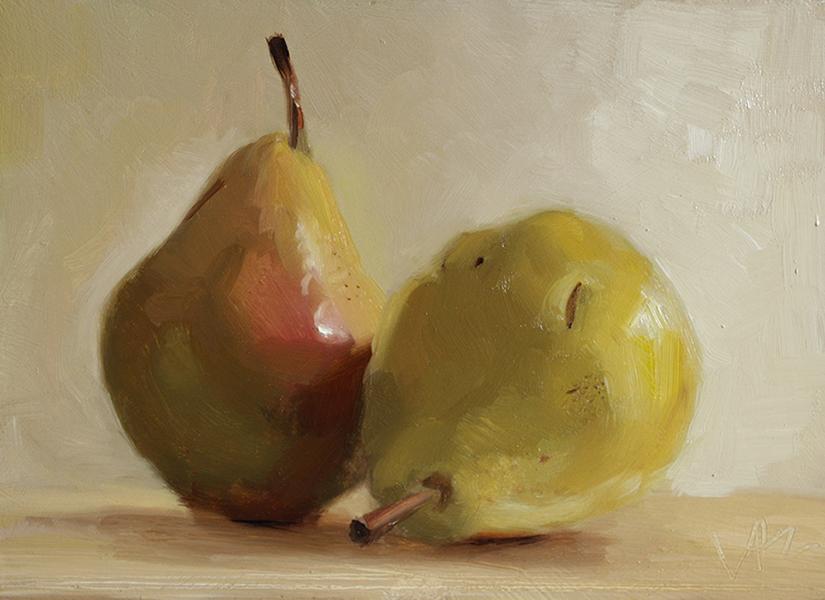 Valerie Fabie, Budding Artist, Pears