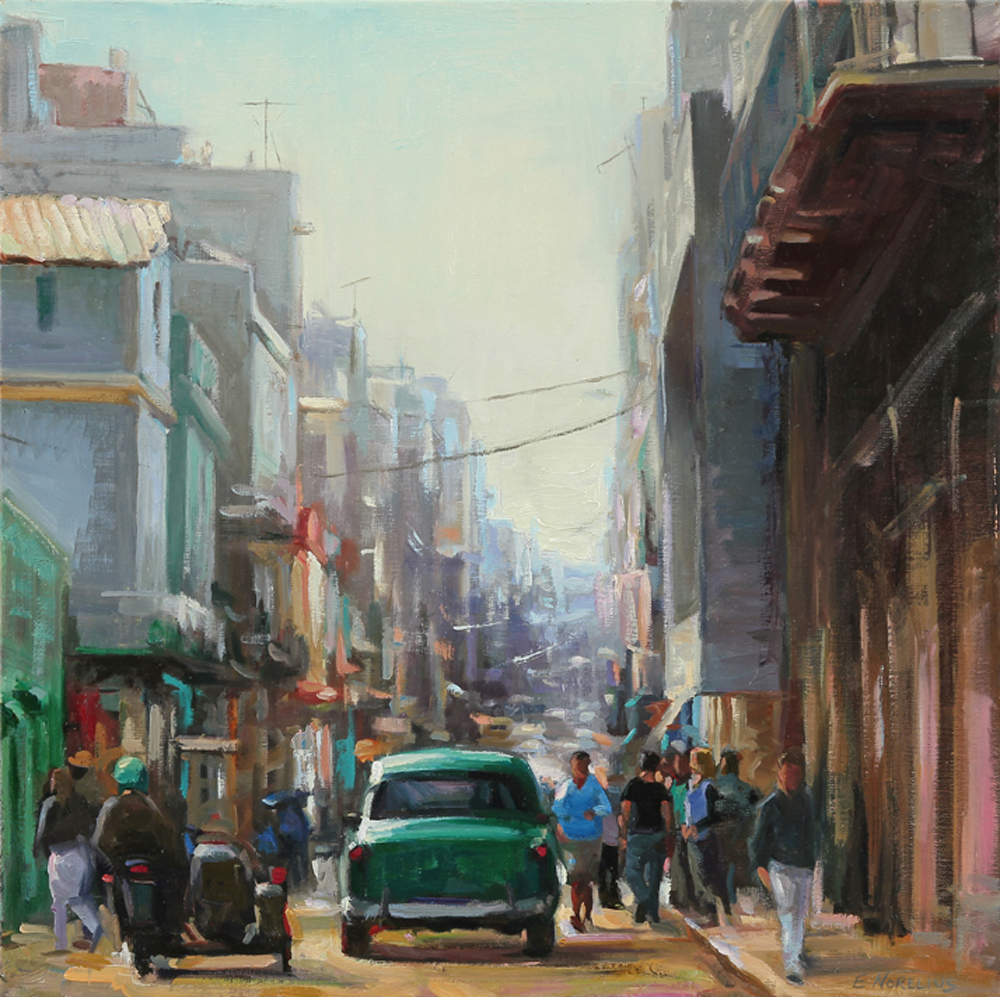 Erica Norelius, Crowded Cuban Street