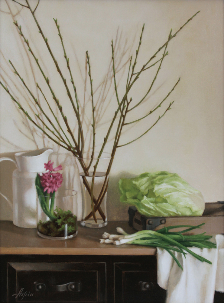 Julia Aspin, Still Life with Spring Gren