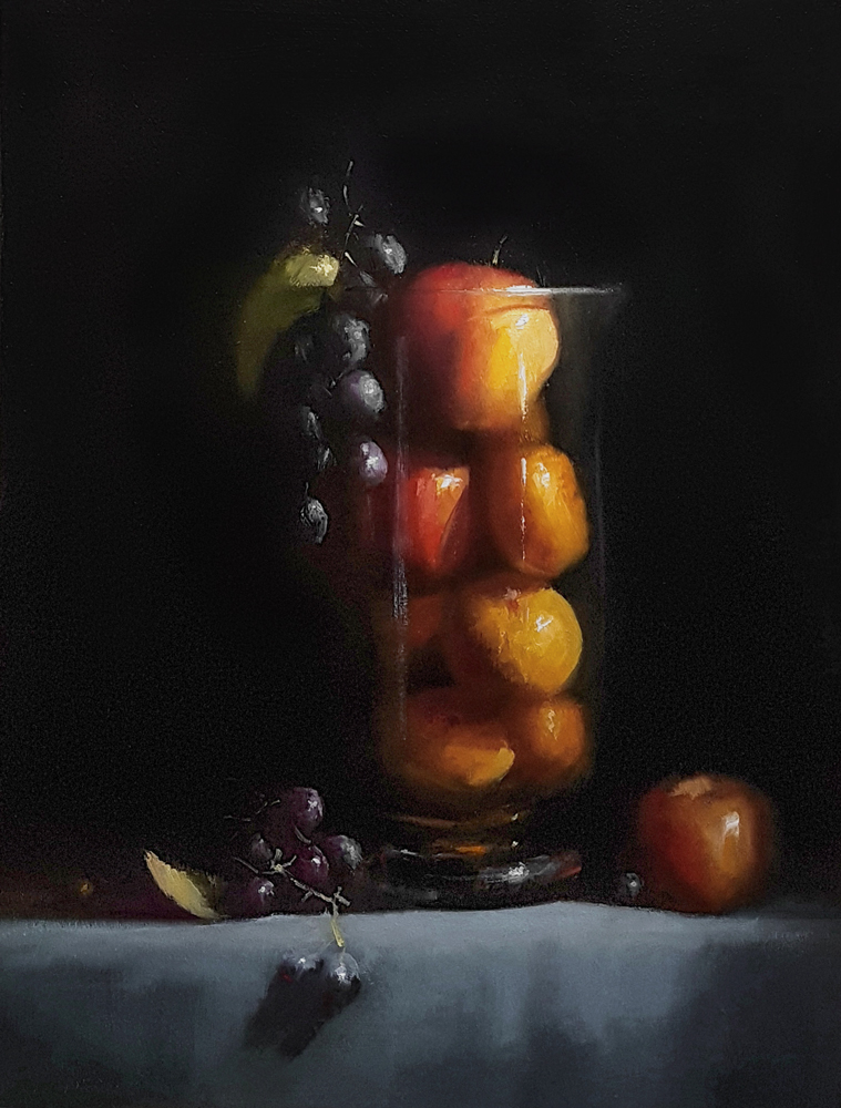 Neil Carroll, Glass Jar of Fruit