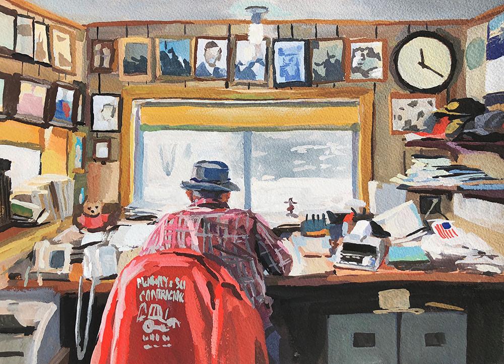 Emerging Artist, Heather Martin, Grandpa's Office