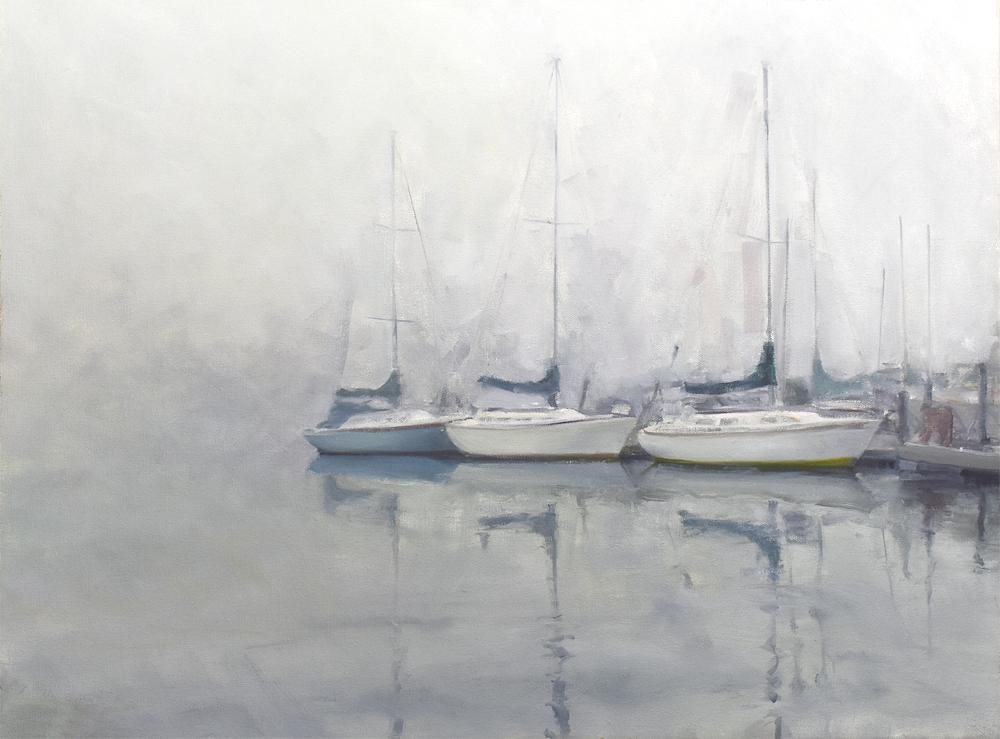 Stephen Van Handel, Alamitos Bay Sloops in the Fog