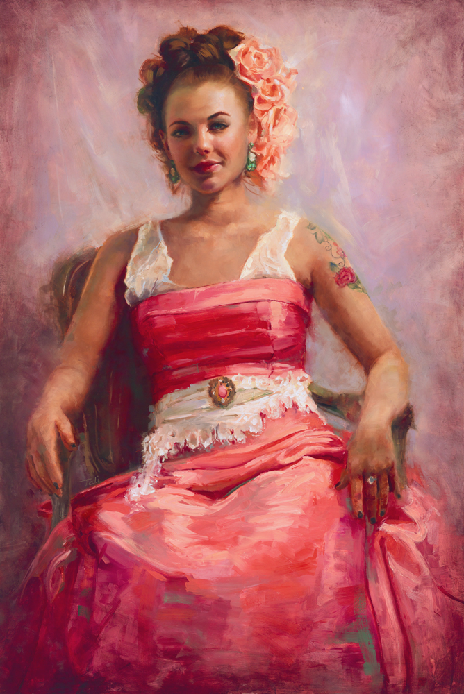 Talya Johnson, Girl with Flower Tattoo