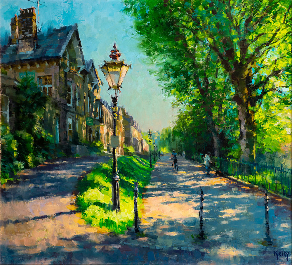 Alex Kelly, Evening Light on Broad Walk