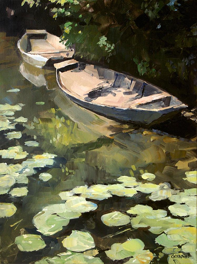 Raphael Goineaudeux, Deux barques à la Roussille