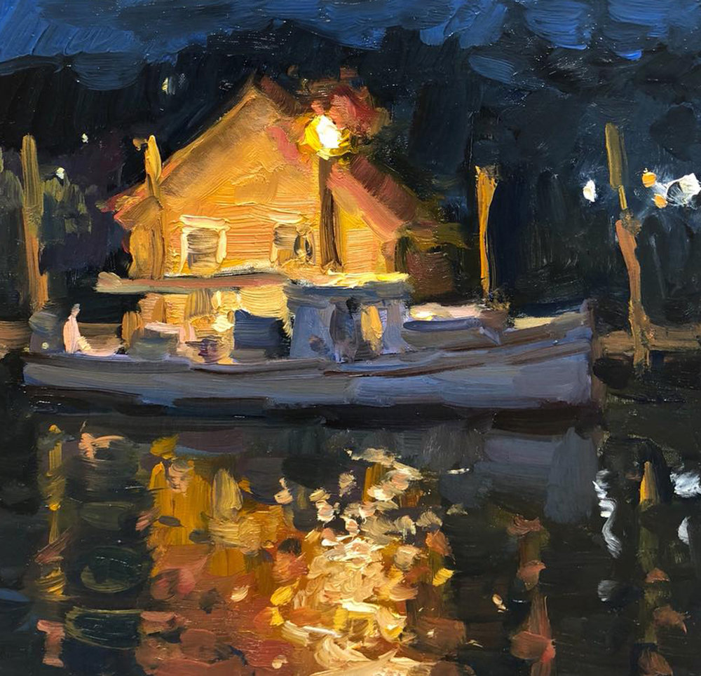Richard Oversmith, Shem Creek at Night