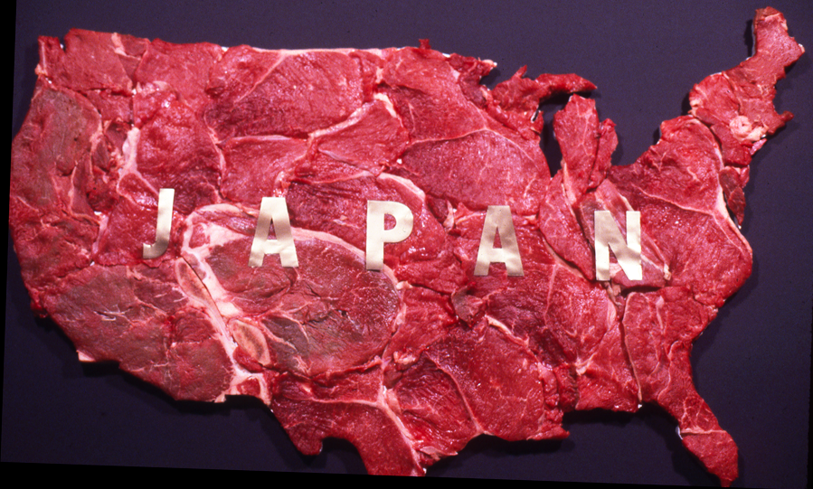 Japan, 1989   beef on board; 36 x 24 x 12 inches
