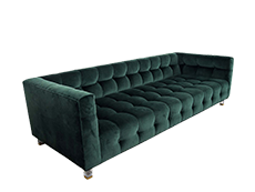 EVERDEEN Forest Velvet Sofa QTR.png