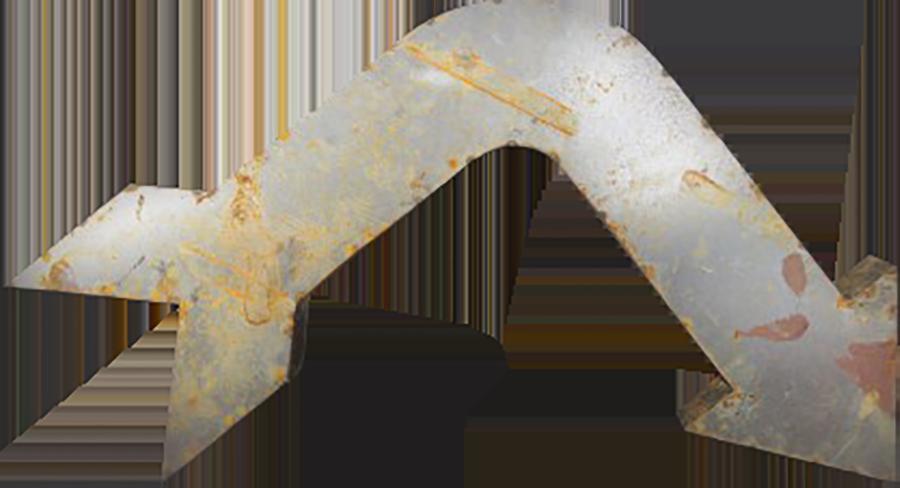 Grenfell Bent Vintage Metal Arrow Event Design Decor