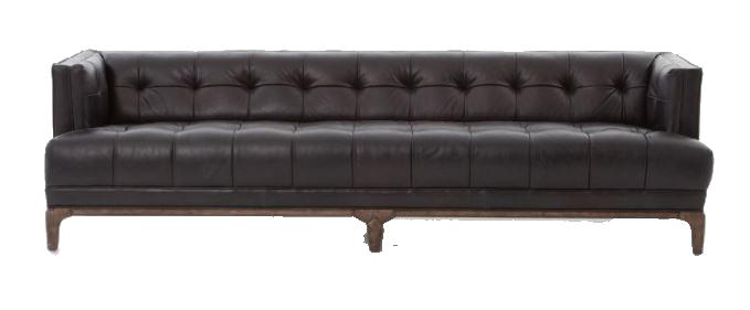 Indiwin Black Leather Sofa — Event Design & Decor | Eclectic Hive ...