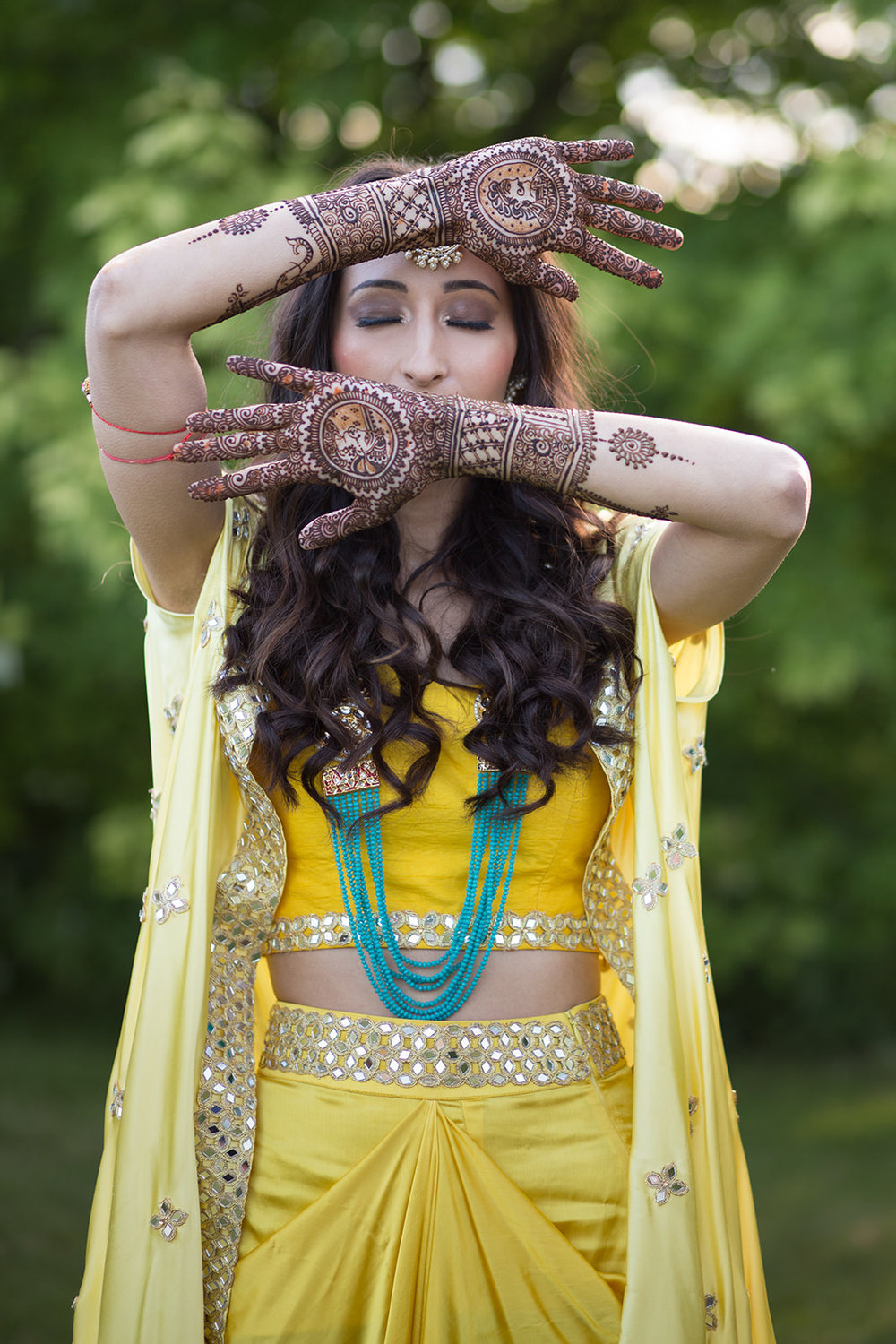 Le Cape Weddings - Puja and Kheelan - Mendhi A   -15.jpg
