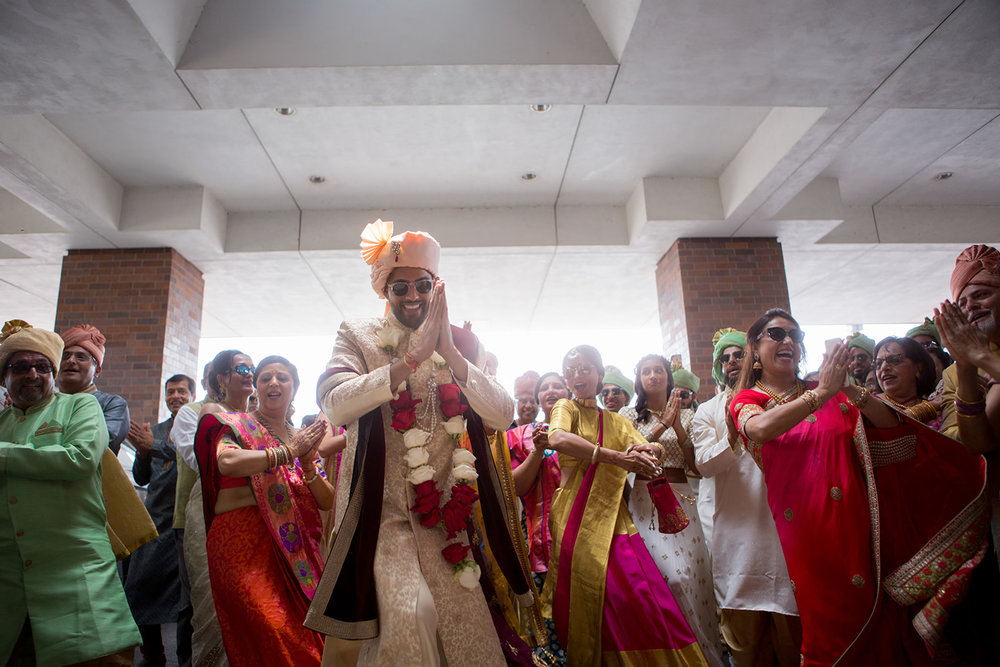 Le Cape Weddings - Puja and Kheelan - Baraat -32.jpg