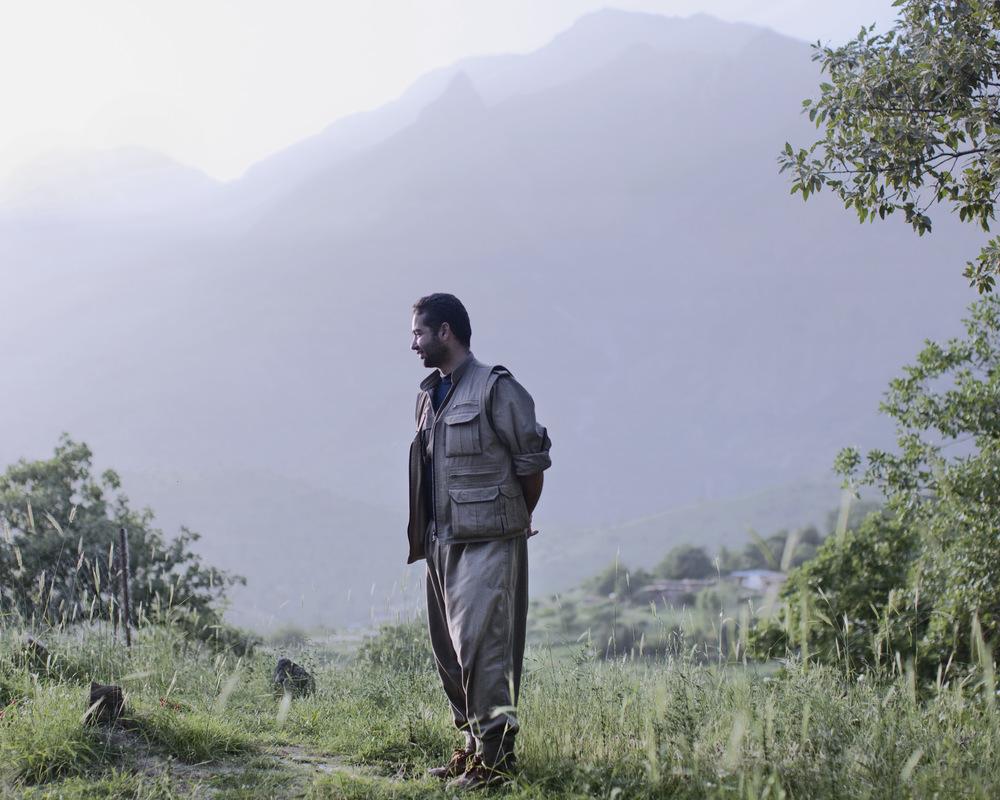 Hans, a PJAK soldier. Khandil mountain range, Iraqi/Iranian border.