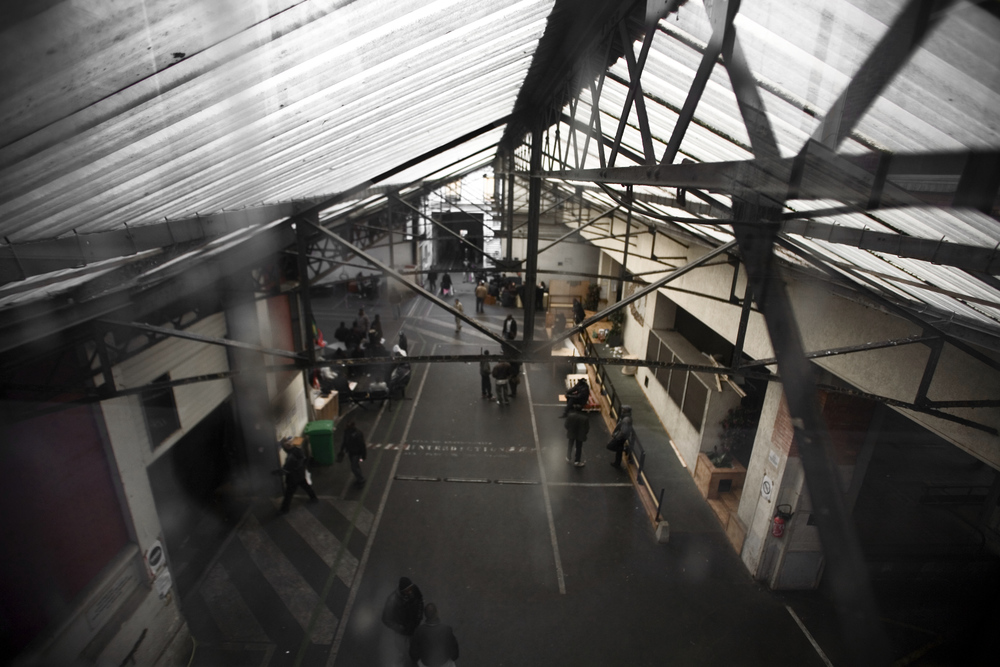 A view of the ground floor of the warehouse. Due to the open space on the ground floor most members spend their day upstairs in the winter, in small rooms where more warm air is trapped, this is important since the collective has no heating.