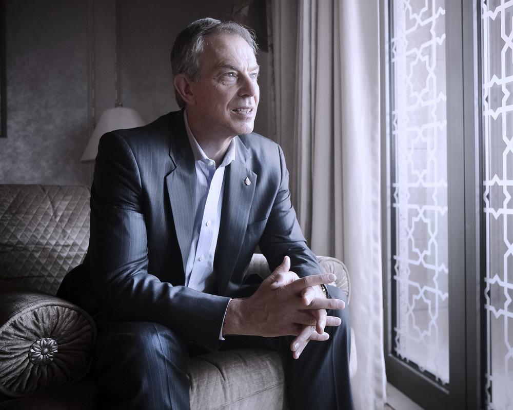 Former UK Prime Minister Tony Blair.Abu Dhabi, U.A.E.