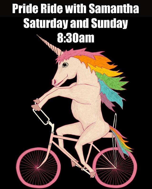 #Ride  with #Pride  Saturday and Sunday 8:30am with Samantha @samroseq  #loveislove  #islove  #prideride