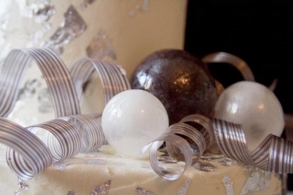 Blow Sugar Orbs and Pulled Sugar Ribbons. Photo Courtesy of  Annah Hamby Photography