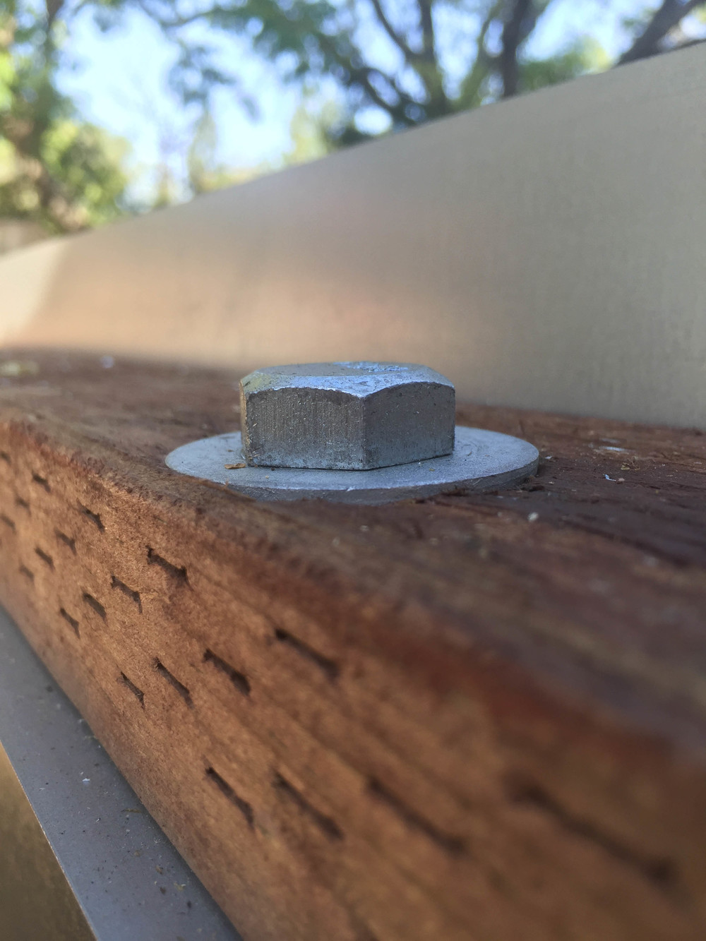 This is one of the finished bolts which holds the sill to the trailer.