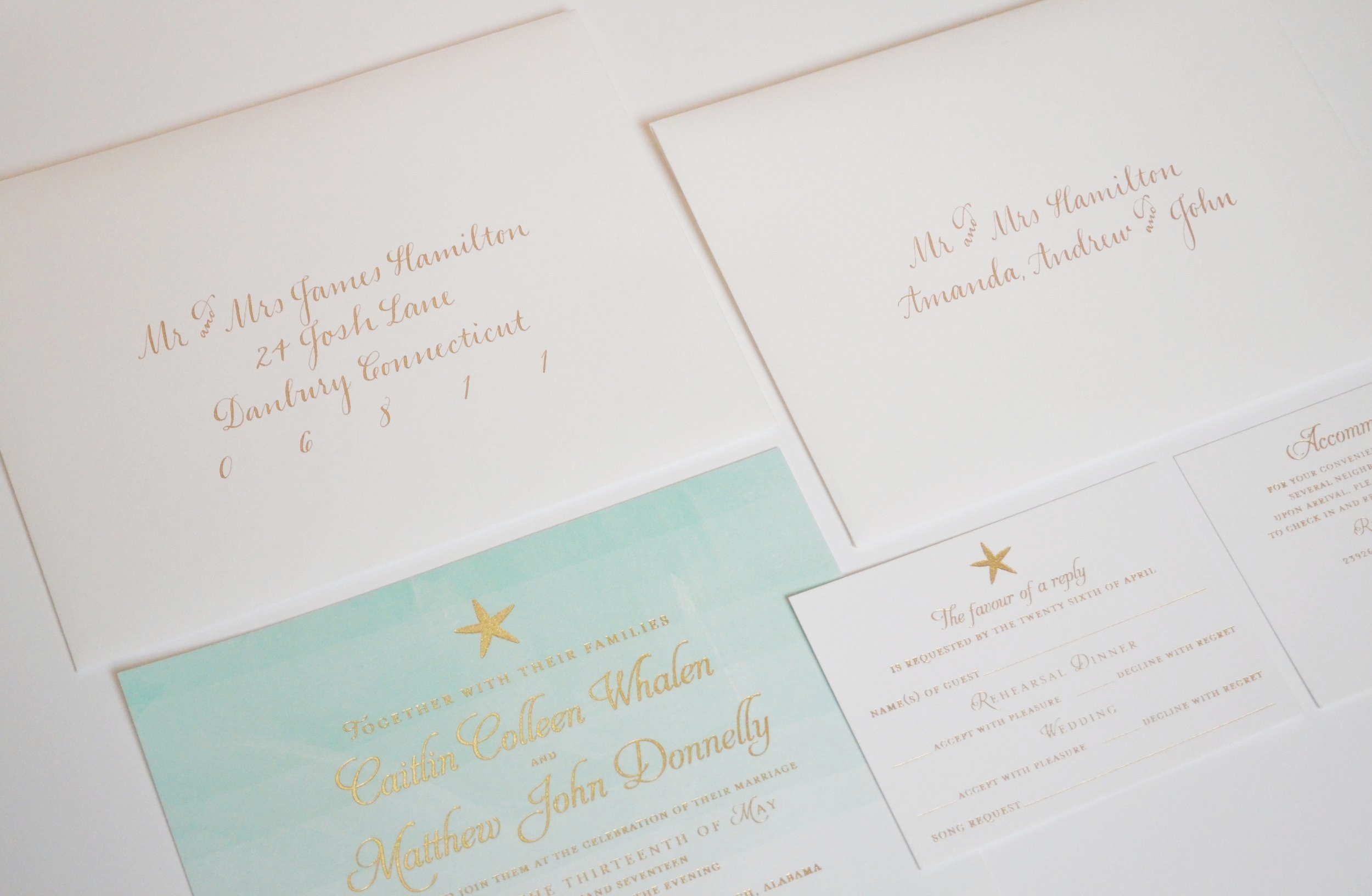 Addressing your wedding invitations jenna laine weddings inner and outer envelope addressing monicamarmolfo Images