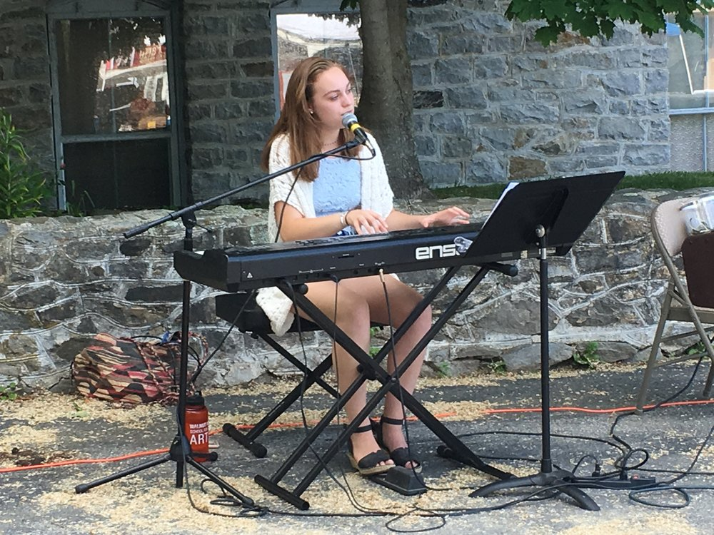 Thalia Cook-Hansen at Yarmouth Farmers Market