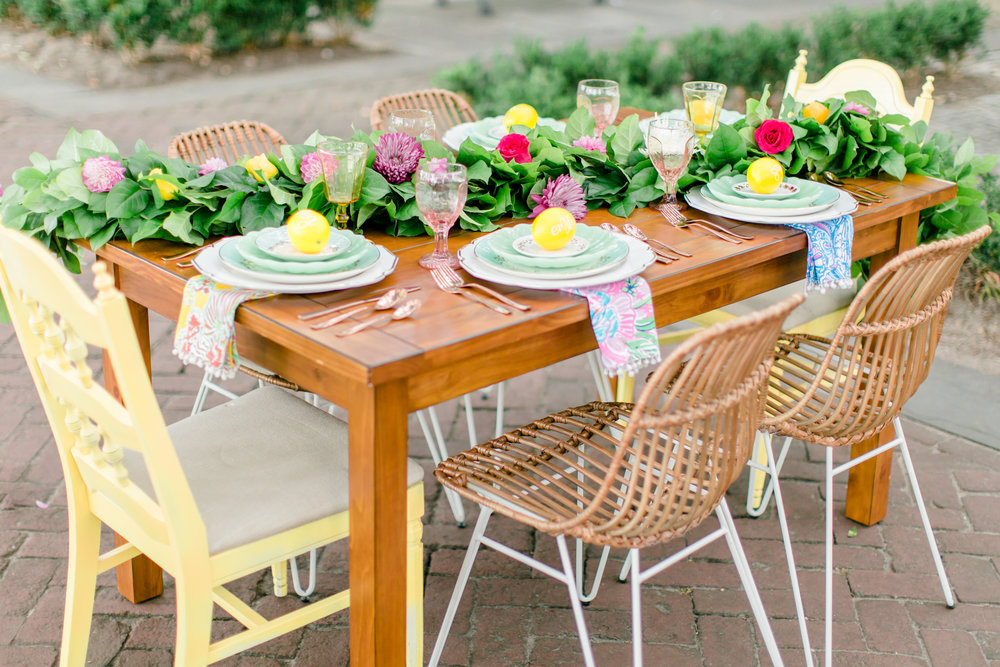Styling and design I did for the AKP RETREAT. Rentals by Mad Hatter Vintage Rentals & Styling Photography by Emma Hill Photography