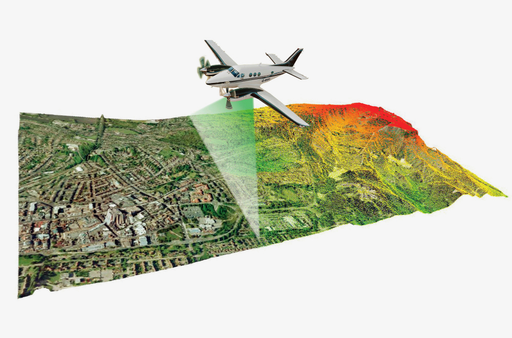 Piloted aircraft using large format image and/or LiDAR sensors allow for high precision mapping over larger areas and on projects with more complex mapping challenges