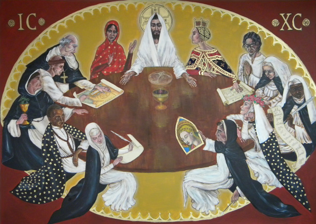"""Dominican Last Supper,"" on display at St. Albert the Great Priory in Irving, Texas (2012)"