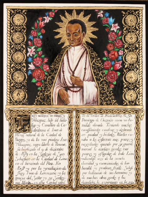 """St. Martin de Porres,"" currently part of a private collection (2011)"