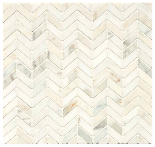 Calacatta mini herringbone