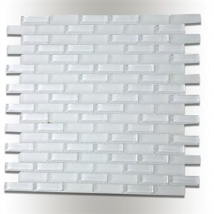 Bright White .5x2 Brick
