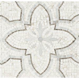 Floral Bianco Grigio