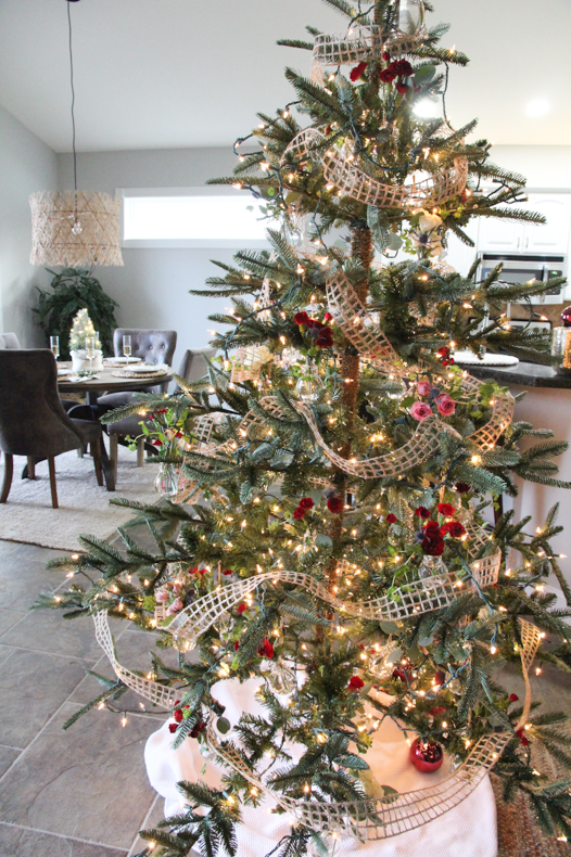 Christmas Tree with bud vases