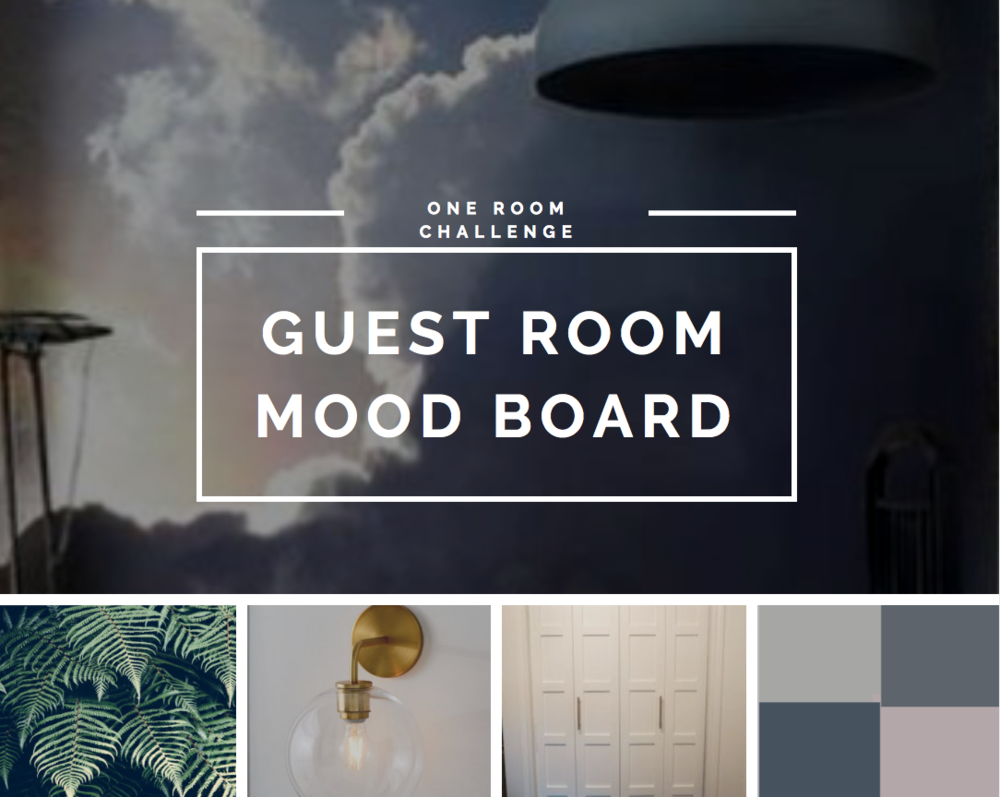 Mood Board for Guest Room at the Lake House