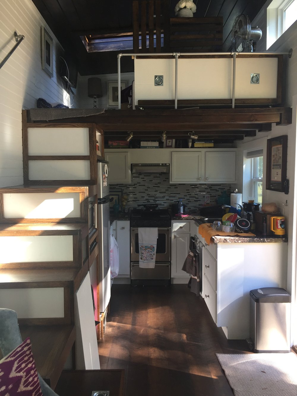 Full kitchen and the loft above.