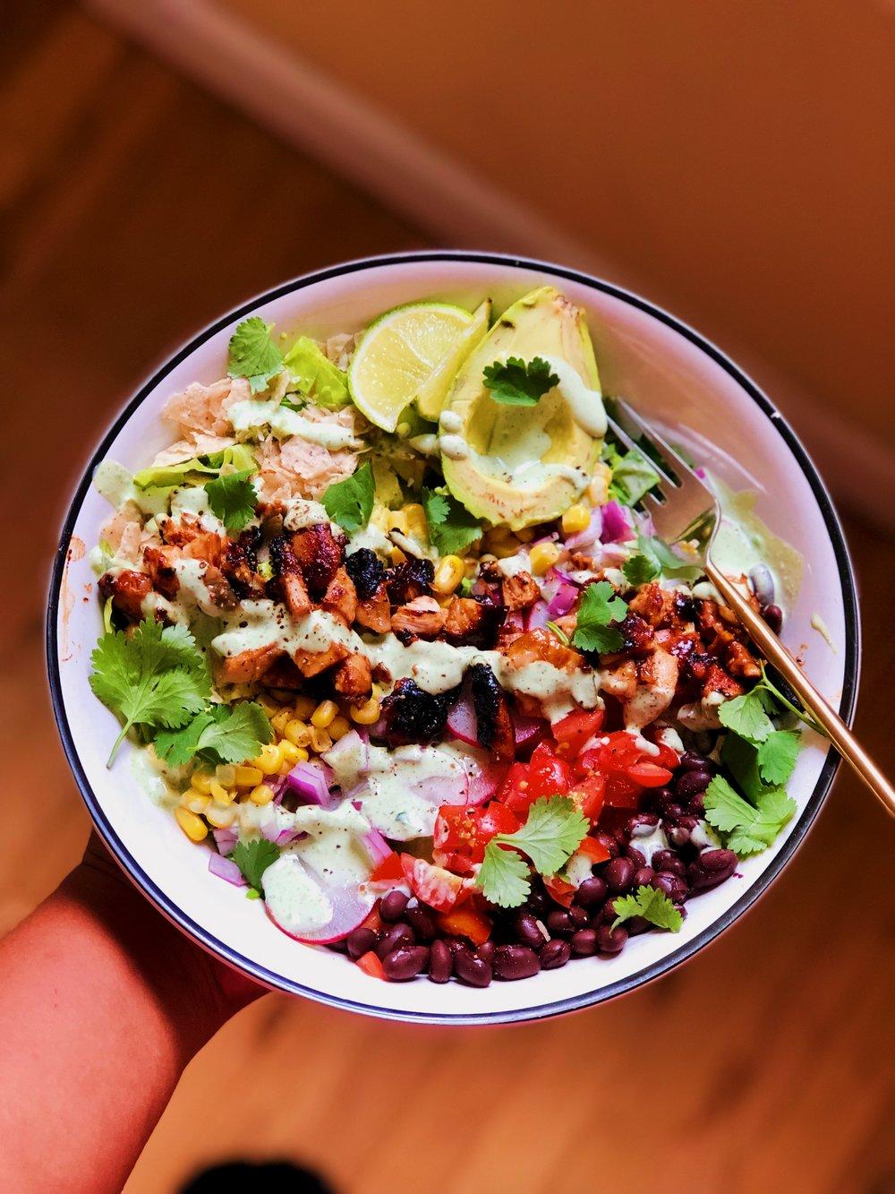 IMG_9522.JPGBBQ Chopped Chicken Salad | recipe from tatichin.com
