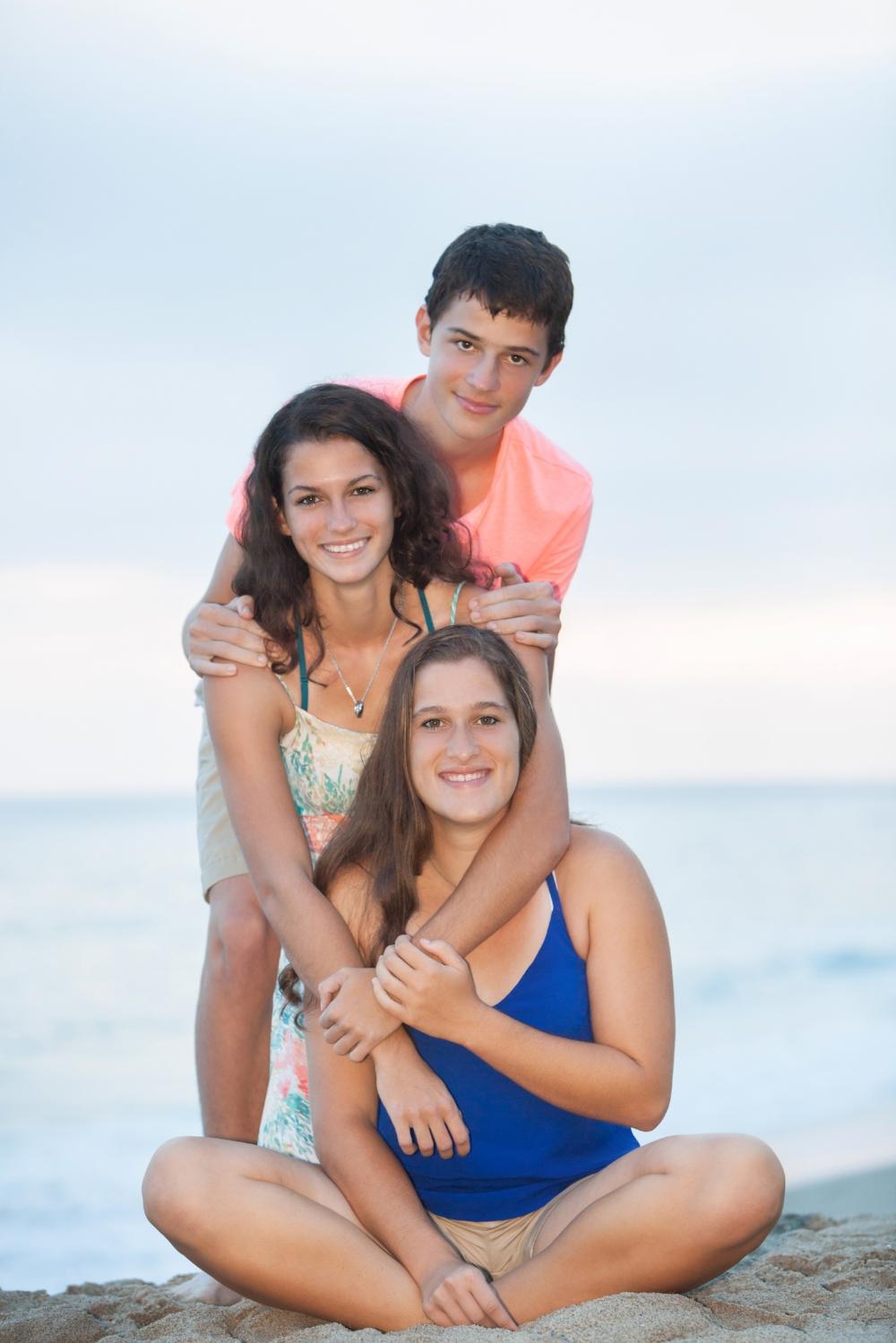 High School Senior Photography Triplets