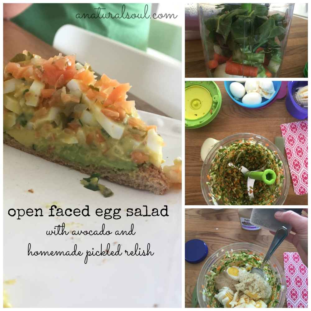 open faced egg salad